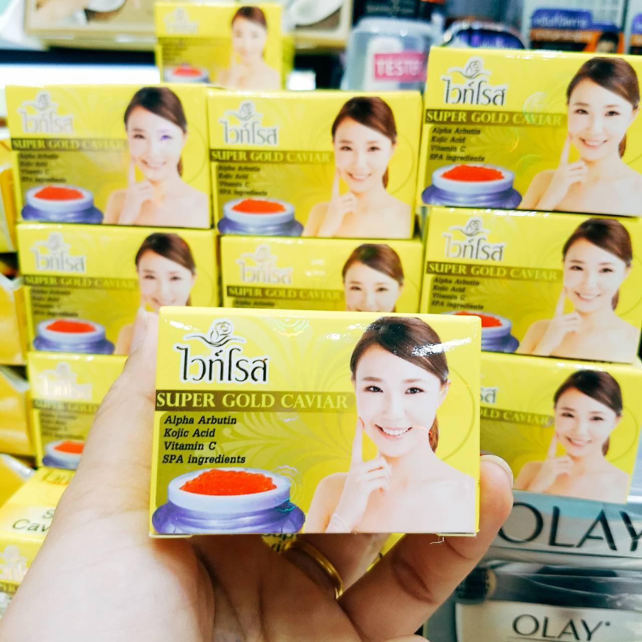 ครีมไวท์โรส Super gold Caviar whitening Cream