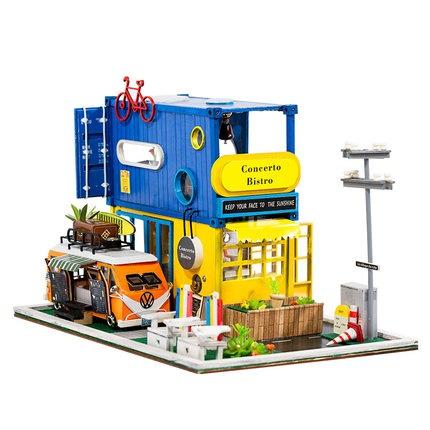 เปิดจอง>> DIYโมเดลบ้าน โมเดลจิ๋ว บ้านตุ๊กตา ชุดอุปกรณ์ครบเซ็ตในกล่อง