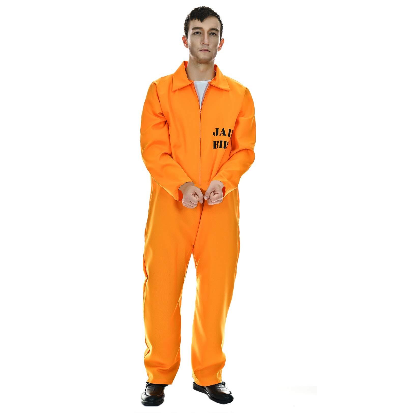 ++พร้อมส่ง++ชุดนักโทษ ชุดคนคุก ชุดนักโทษสีส้ม