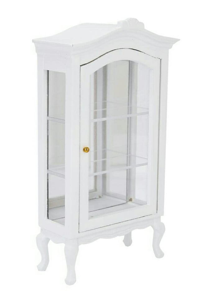 K025 - ตู้โชว์ไม้เล็กทำสีขาว