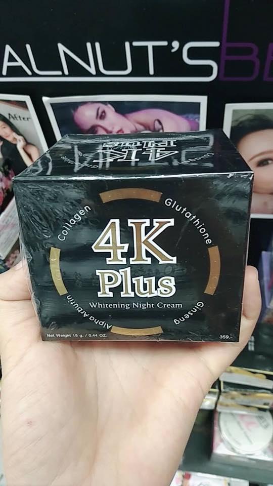 4K Plus Whitening Night Cream ครีม 4 เคพลัส ไวท์เทนนิ่ง ไนท์ ครีม ครีมบำรุงผิวหน้า สูตรกลางคืน