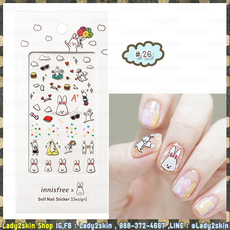 ( # 26 ) Cute Rabbit Benny Collection Self Nail Sticker – Design