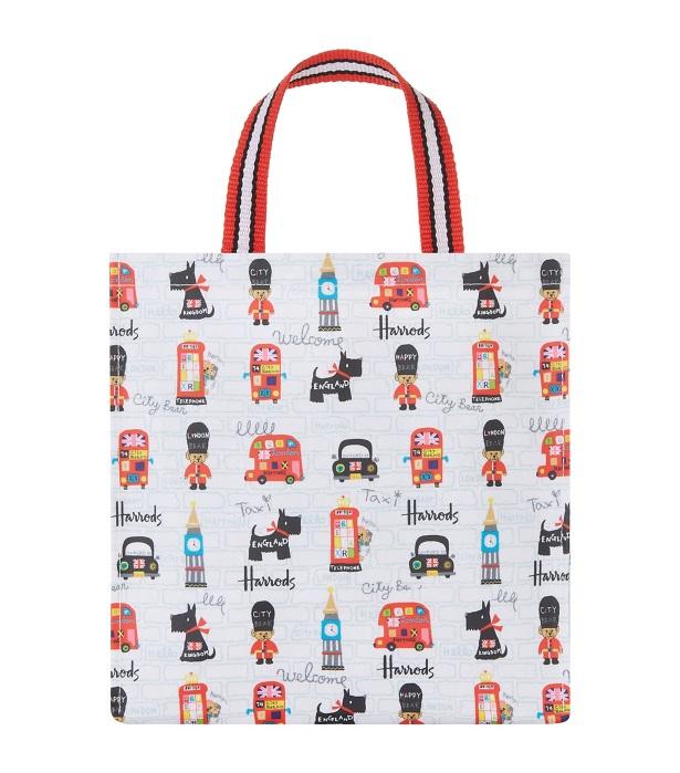 HarrodsSizeSmall รุ่น City Bear Small Shopper Bag (กระดุม) ***พร้อมส่ง