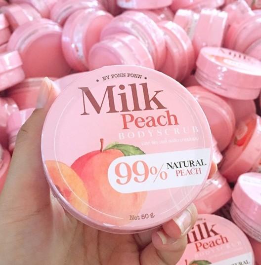 Milk Peach Bodyscrub BY FONN FONN สครับพีช