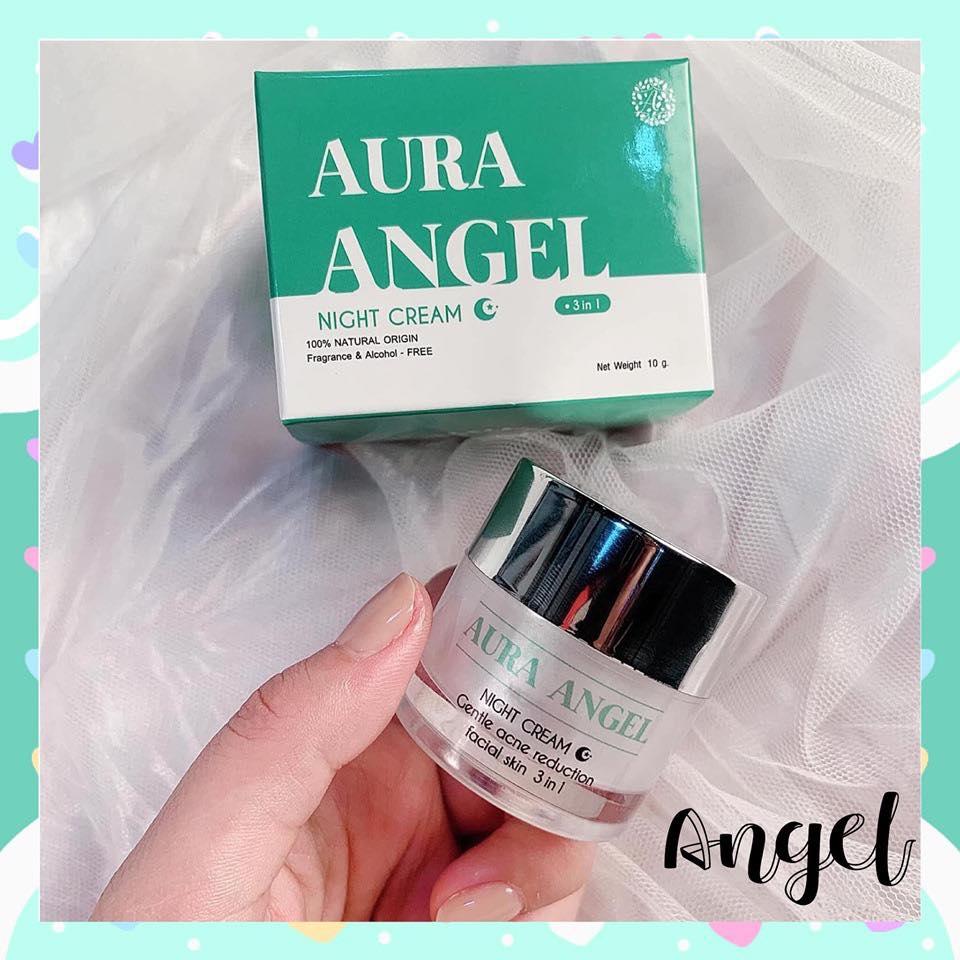 ครีมสาหร่าย Aura Angel Night Cream ออร่าแองเจิลไนท์ครีม ครีมสาหร่ายหน้าใส