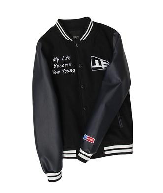 เสื้อแจ็คเก็ตเบสบอล แขนหนัง เสื้อกันหนาว เบสบอล แฟชั่น NY MLB MAJOR LEAGUE BASEBALL (รับประกันของแท้100%)