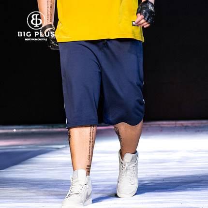 ขนาด:36 38 40 42 44 46 48 สี:น้ำเงิน กางเกงคนอ้วน กางเกงผู้ชาย ขนาดใหญ่ กางเกงขาสั้น
