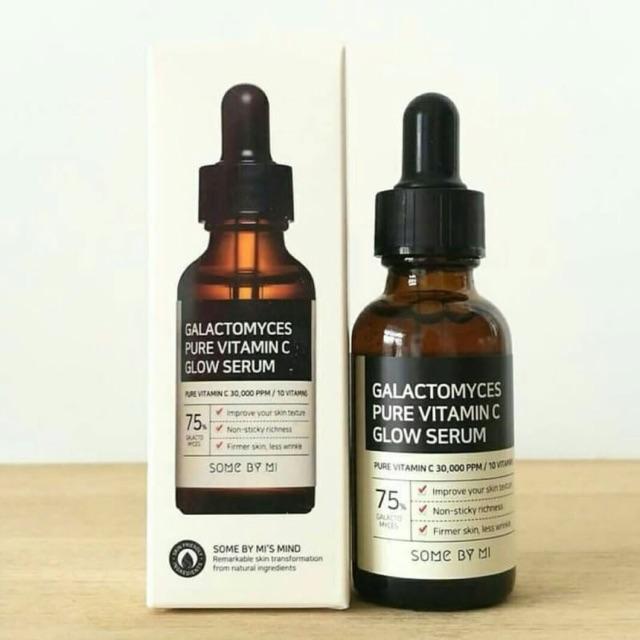 *พร้อมส่ง*SOME BY MI Galactomyces Pure Vitamin C Glow Serum 30 ml. เซรั่มจากวิตามินซีบริสุทธิ์ ช่วยลดริ้วรอย เผยผิวกระจ่างใสอย่างเป็นธรรมชาติ พร้อมทั้งช่วยบำรุงผิว ล้ำลึกอย่างอ่อนโยนผิวขาวกระจ่างใสสะอาดเกลี่ยงเกลา ผิวฉ่ำน้ำ ดูโกลว์คงความชุ่มชื้
