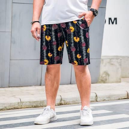 ขนาด:2XL 3XL 4XL 5XL 6XL 7XL สี:ดำ/แอปริิคอท กางเกงคนอ้วน กางเกงผู้ชาย ขนาดใหญ่ กางเกงขาสั้น