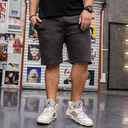 ขนาด:XL 2XL 3XL 4XL 5XL 6XL สี:ดำ/ฟ้า กางเกงคนอ้วน กางเกงผู้ชาย ขนาดใหญ่ กางเกงขาสั้น