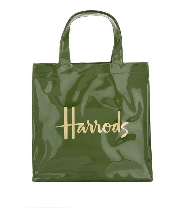 กระเป๋า Harrods Small Logo Shopper Bag สีเขียว (กระดุมแม่เหล็ก)   (พร้อมส่ง)
