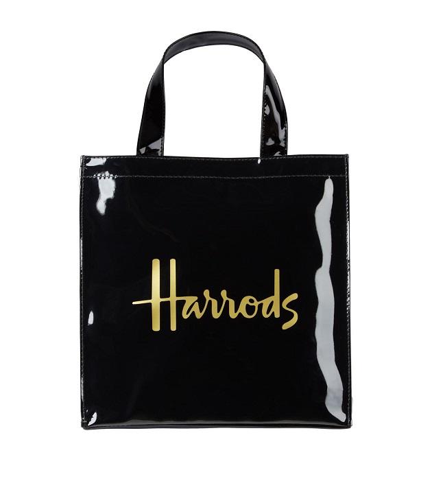 กระเป๋า Harrods รุ่น Small  Logo Shopper Bag สีดำ (กระดุม) ****พร้อมส่ง