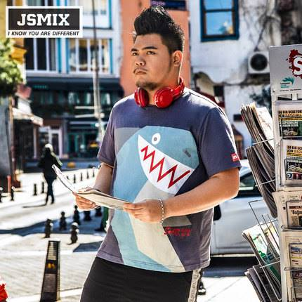 ขนาด:XL 2XL 3XL 4XL 5XL 6XL 7XL สี:น้ำเงิน เสื้อคนอ้วน เสื้อผ้าผู้ชาย ขนาดใหญ่ เสื้อยืด แขนสั้น