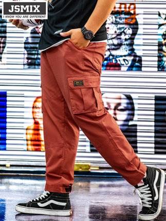 ขนาด:36 38 40 42 44 46 48 สี:แดง กางเกงคนอ้วน กางเกงผู้ชาย ขนาดใหญ่ กางเกงขายาว