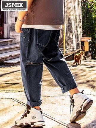 ขนาด:36 38 40 42 46 48 สี:น้ำเงิน กางเกงคนอ้วน กางเกงผู้ชาย ขนาดใหญ่ กางเกงขายาว