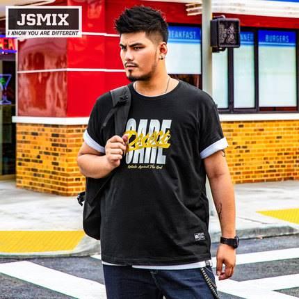 ขนาด:XL 2XL 3XL 4XL 5XL 6XL 7XL 8XL สี:ดำ เสื้อคนอ้วน เสื้อผ้าผู้ชาย ขนาดใหญ่ เสื้อยืด แขนสั้น