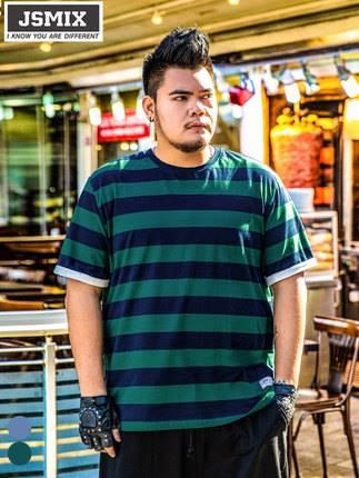 ขนาด:XL 2XL 3XL 4XL 5XL 6XL 7XL สี:น้ำเงิน/เขียว เสื้อคนอ้วน เสื้อผ้าผู้ชาย ขนาดใหญ่ เสื้อยืด แขนสั้น