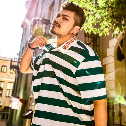 ขนาด:XL 2XL 3XL 4XL 5XL 6XL 7XL สี:เขียว/น้ำเงิน เสื้อคนอ้วน เสื้อผ้าผู้ชาย ขนาดใหญ่ เสื้อโปโล