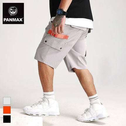 ขนาด:2XL 3XL 4XL 5XL 6XL สี:ส้ม/ดำ/เทา กางเกงคนอ้วน กางเกงผู้ชาย ขนาดใหญ่ กางเกงขาสั้น