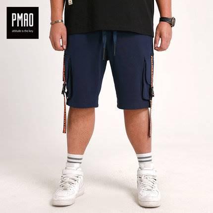 ขนาด:2XL 3XL 4XL 5XL สี:น้ำเงิน กางเกงคนอ้วน กางเกงผู้ชาย ขนาดใหญ่ กางเกงขาสั้น