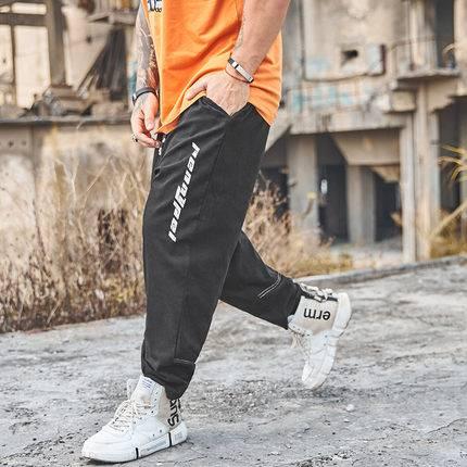 ขนาด:36 38 40 42 44 46 48 สี:ดำ กางเกงคนอ้วน กางเกงผู้ชาย ขนาดใหญ่ กางเกงขายาว