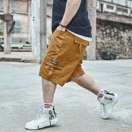 ขนาด:36 38 40 42 44 46 48 สี:เหลือง กางเกงคนอ้วน กางเกงผู้ชาย ขนาดใหญ่ กางเกงขาสั้น