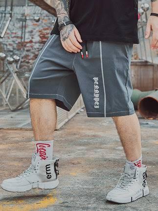 ขนาด:36 38 40 42 44 46 48 สี:เทา/ส้ม กางเกงคนอ้วน กางเกงผู้ชาย ขนาดใหญ่ กางเกงขาสั้น