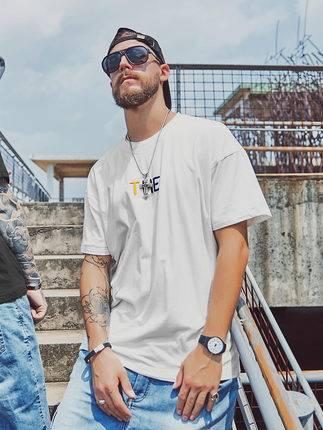 ขนาด:XL 2XL 3XL 4XL 5XL 6XL สี:ขาว เสื้อคนอ้วน เสื้อผ้าผู้ชาย ขนาดใหญ่ เสื้อยืด แขนสั้น
