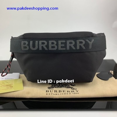Burberry Vintage Check nylon and leather belt bag Hiend งานหนังแท้ งานสวยเหมือนแท้