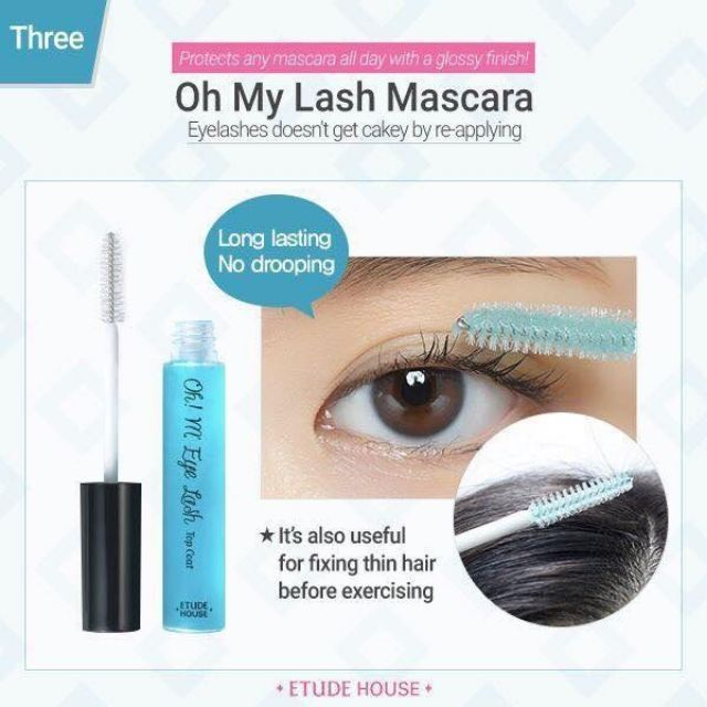 Etude House Oh M'eye Lash Mascara 8.5 g #01 Top coat มาสคาร่าบำรุงเคลือบขนตาให้ขนตาสวยยาวนาน (1 แท่ง)