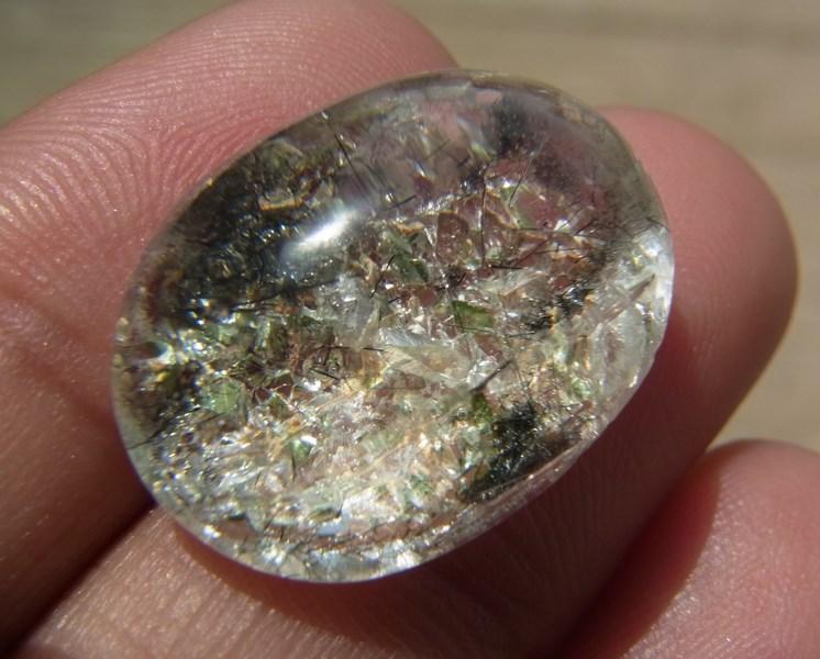 แก้วโป่งข่าม แก้ว3 กษัตริย์ แก้วขนเหล็ก+ ปวกเขียว ทอง ดำ + เข้าแก้วสีเงิน 17.80 กะรัต