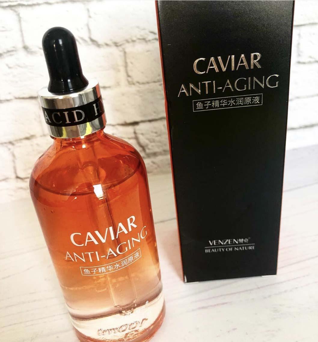 เซรั่ม Venzen Caviar anti-aging (สูตรสีส้ม) ปริมาณ 100 ml. 1 ขวด