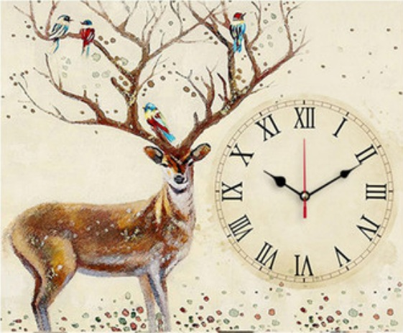 Vintage clock (พิมพ์ลาย)