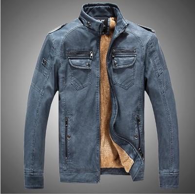 เสื้อแจ๊คเก็ตหนัง เสื้อแจ๊คเก็ตผู้ชาย เสื้อแขนยาว เสื้อหนัง