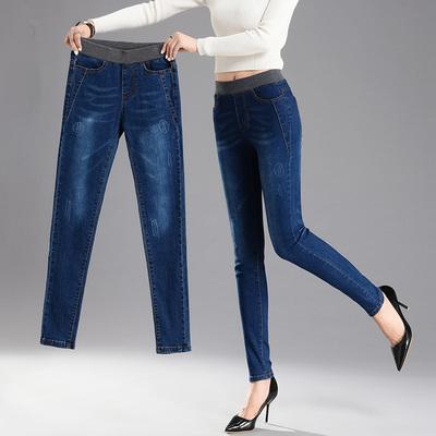 กางเกงยีนส์แฟชั่น กางเกงยีนส์เอวยางยืด กางเกงยีนส์ผู้หญิง