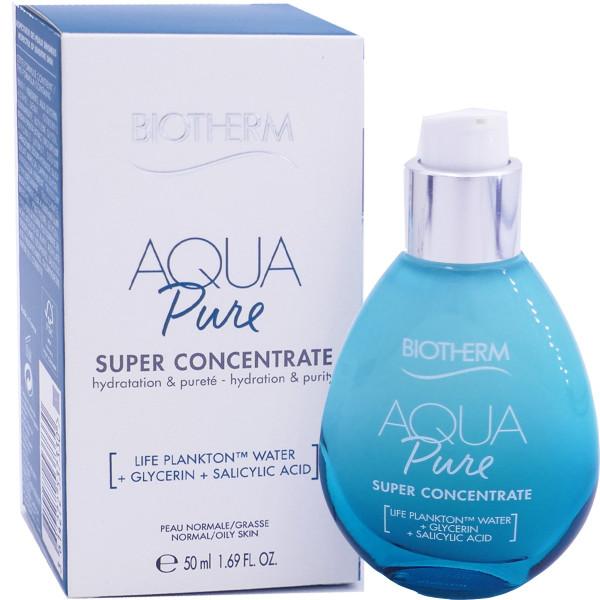 **พร้อมส่ง**Biotherm Aqua Pure Super Concentrate 50 ml. ครีมบำรุงผิวหน้าสำหรับคนผิวหน้ามัน ช่วยควบคุมความมัน อันเป็นสาเหตุของการเกิดสิว ด้วยส่วนผสมของซาลิไซลิก แอซิด อ่อนโยนต่อผิว เนื้อครีมบางเบา ไม่มันวาว