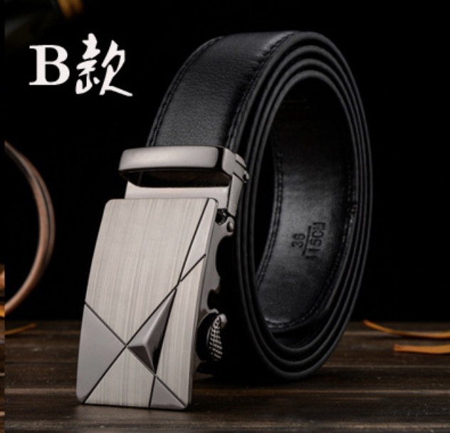 เข็มขัดคนอ้วน เข็มขัดผู้ชาย เข็มขัดหนัง PU สีดำ สีน้ำตาล ขนาด  110 ซม, 140ซม