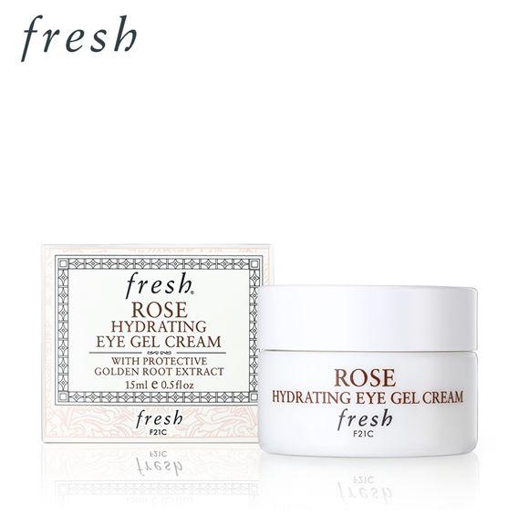 **พร้อมส่ง**Fresh Rose Hydrating Eye Gel Cream 15 ml. เจลครีมบำรุงผิวรอบดวงตาที่จะคืนความสดชื่นอย่างล้ำลึกได้ยาวนานกว่า 30 ชั่วโมง ด้วยสารสกัดจาก Golden Root ที่จะช่วยบำรุงผิวให้มีชีวิตชีวาและต่อต้านอนุมูลอิสระ พร้อมช่วยให้ผิวรอบดวงตากระจ่างใส ชุ่มชื่น แล