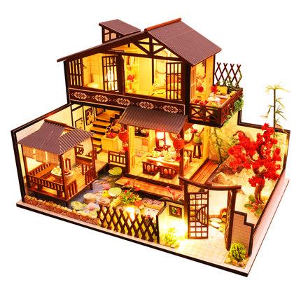 เปิดจอง>> DIYโมเดลบ้านสไตล์จีน โมเดลจิ๋ว บ้านตุ๊กตา ชุดอุปกรณ์ครบเซ็ตในกล่อง