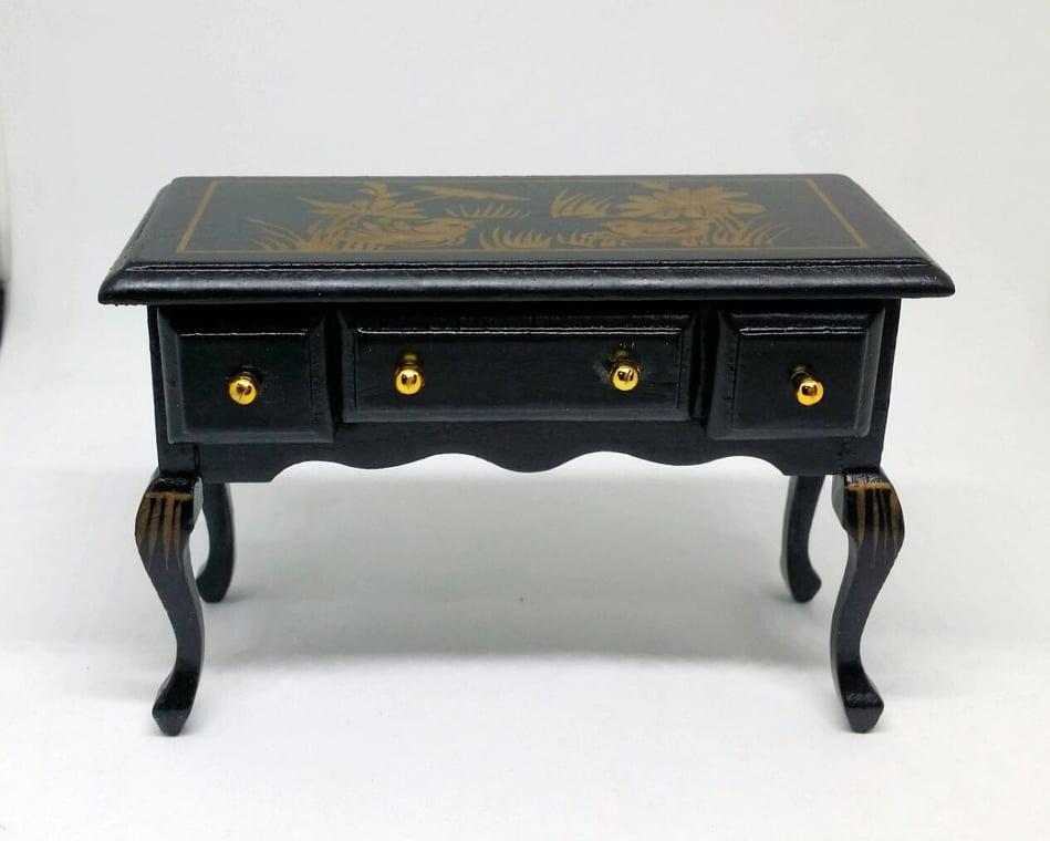 A006-โต๊ะไม้แบบลิ้นชัก