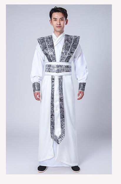 ++พร้อมส่ง++ชุดจีนชายโบราณสีขาว ชุดจอมยุทธ์จีน แบบสวยเทห์จอมยุทธ์จีนโบราณ