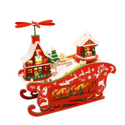 เปิดจอง>> DIYโมเดลMerry Christmas โมเดลจิ๋ว บ้านตุ๊กตา ชุดอุปกรณ์ครบเซ็ตในกล่อง