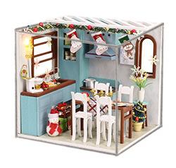 เปิดจอง>> DIYโมเดลห้องครัว โมเดลจิ๋ว บ้านตุ๊กตา ชุดอุปกรณ์ครบเซ็ตในกล่อง
