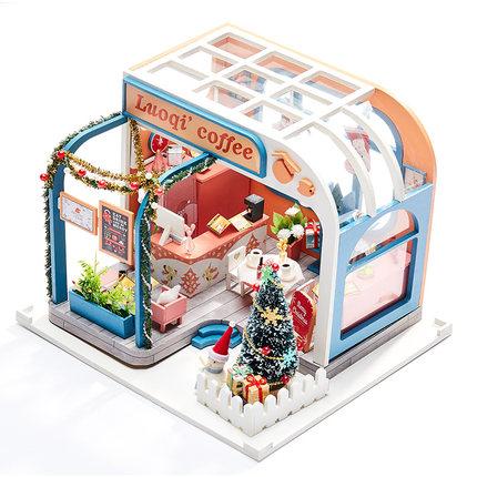 เปิดจอง>> DIYโมเดลร้านกาแฟ โมเดลร้านเบเกอรี่ โมเดลจิ๋ว บ้านตุ๊กตา ชุดอุปกรณ์ครบเซ็ตในกล่อง