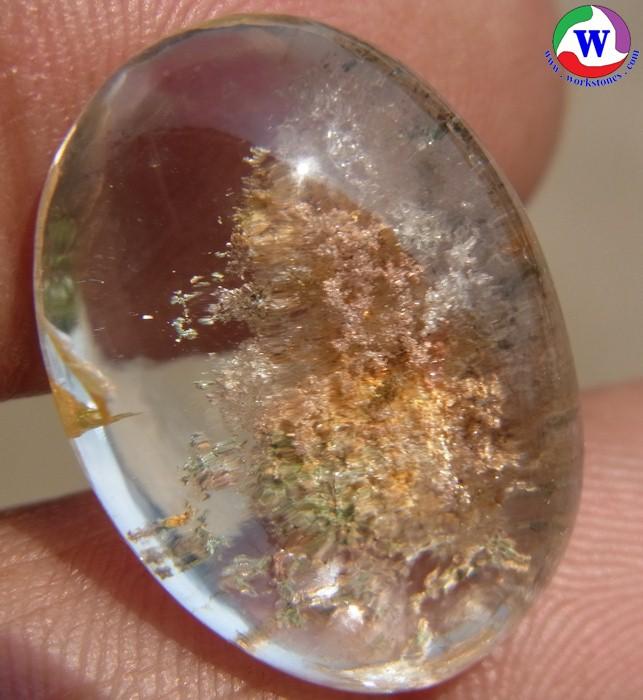 แก้วโป่งข่ามนำโชค 22.95 กะรัต ชนิดแก้วปวก 4 สี ชมพู ทอง นาค เงิน