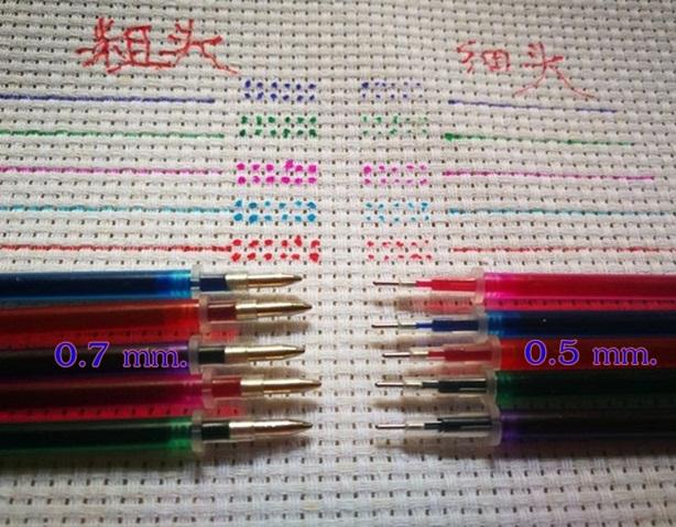 (แพ็ค 12 ด้าม) ปากกาแต้มผ้าละลายน้ำ 0.5 mm.