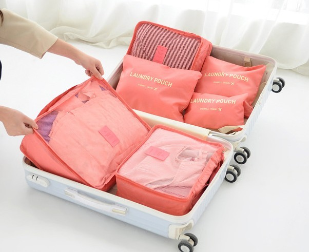 Travel Bag เซทกระเป๋า 6 ชิิ้น Travel Set