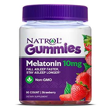 Natrol, Gummies, Melatonin, Strawberry, 5 mg, 90 ชิ้น