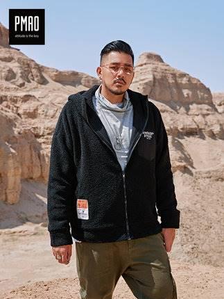 ขนาด:2XL 3XL 4XL 5XL 6XL สี:ดำ เสื้อคนอ้วน เสื้อผ้าผู้ชาย ขนาดใหญ่ เสื้อแจ็คเก็ตมีฮู้ด