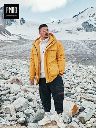 ขนาด:2XL 3XL 4XL 5XL 6XL สี:เหลือง เสื้อคนอ้วน เสื้อผ้าผู้ชาย ขนาดใหญ่ เสื้อแจ็คเก็ตมีฮู้ด